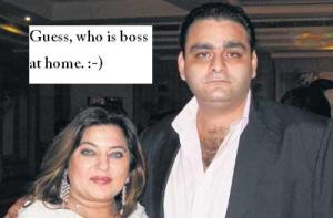 Dolly Bindra with husband Kaizaad Kermani