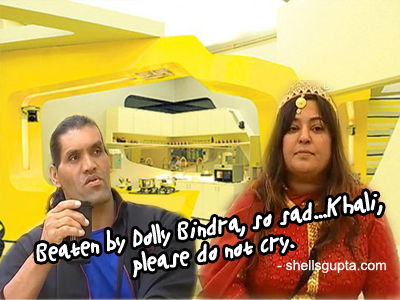 Dolly Bindra and Khali
